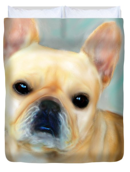 French Bulldog Mystique D'or Duvet Cover by Barbara Chichester