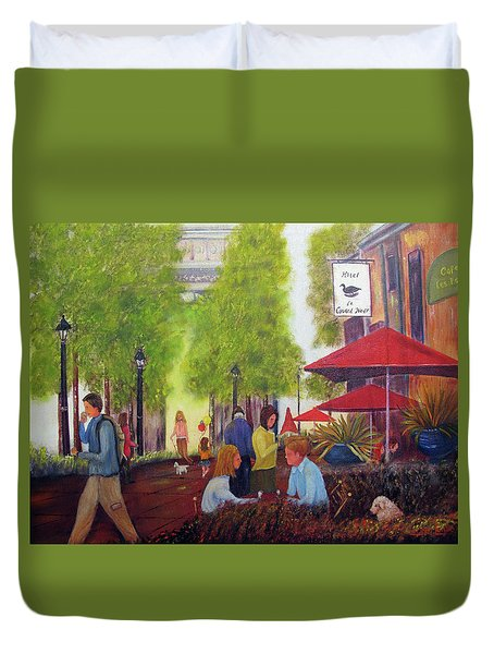 French Cafe Duvet Cover