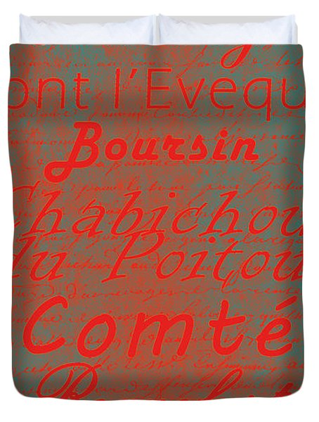 French Cheeses - 5 Duvet Cover by Paulette B Wright