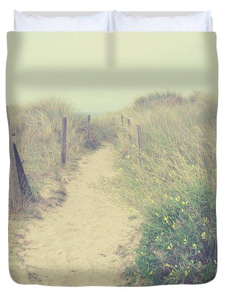 French Coast Beach Duvet Cover by Svetlana Novikova
