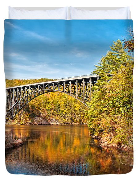 French King Bridge In Autumn Duvet Cover