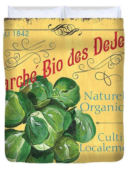 French Market Sign 1 Duvet Cover