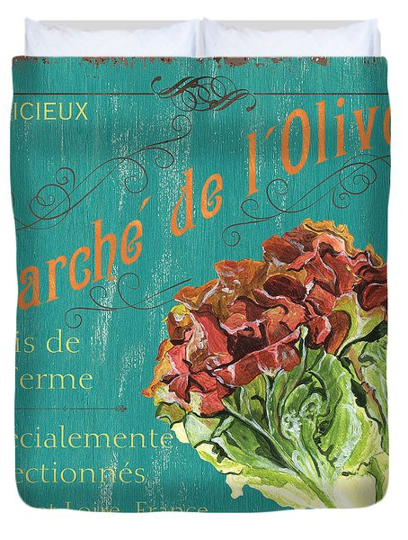 French Market Sign 3 Duvet Cover by Debbie DeWitt