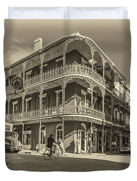 French Quarter Afternoon Sepia Duvet Cover by Steve Harrington