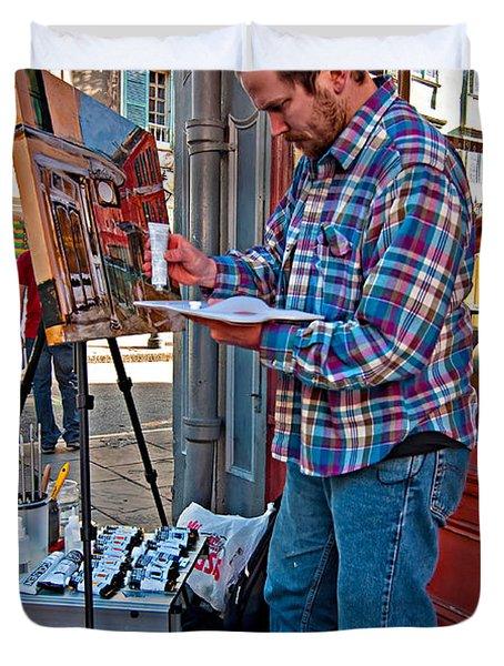 French Quarter Artist Duvet Cover by Steve Harrington