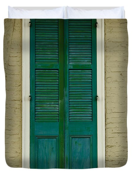 French Quarter Door - 15 Duvet Cover by Susie Hoffpauir