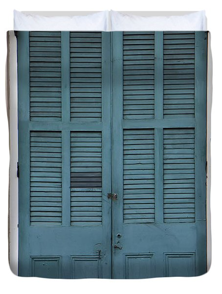 French Quarter Doors Duvet Cover