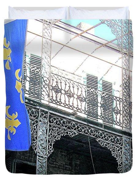 Duvet Cover featuring the photograph French Quarter Nola by Lizi Beard-Ward