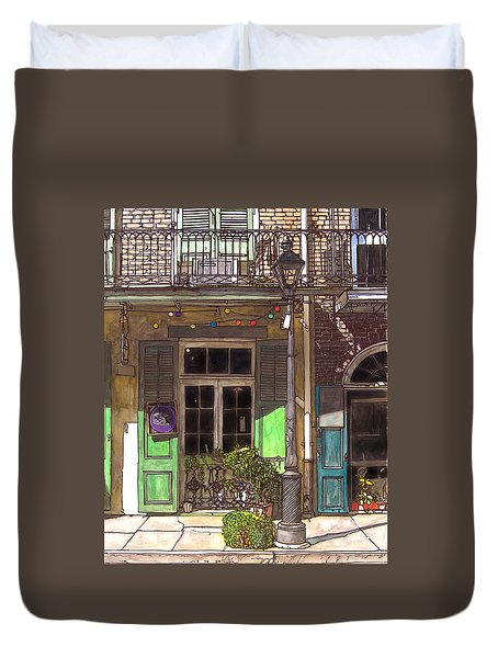 French Quarter Shop 369 Duvet Cover by John Boles
