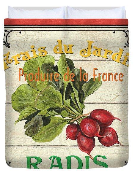 French Vegetable Sign 1 Duvet Cover