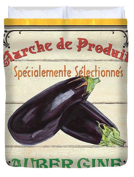 French Vegetable Sign 3 Duvet Cover by Debbie DeWitt
