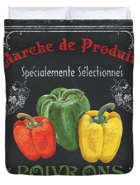 French Vegetables 3 Duvet Cover by Debbie DeWitt