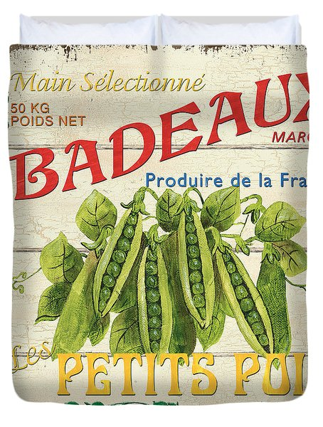 French Veggie Sign 1 Duvet Cover