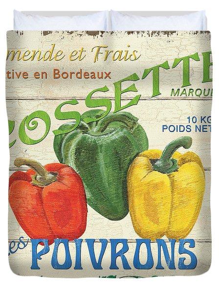 French Veggie Sign 4 Duvet Cover