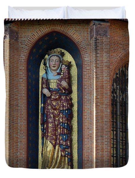 Fresco Painting Over Window Of Church Duvet Cover