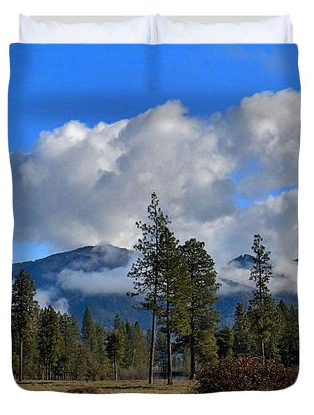 Duvet Cover featuring the photograph Fresh And Green by Julia Hassett