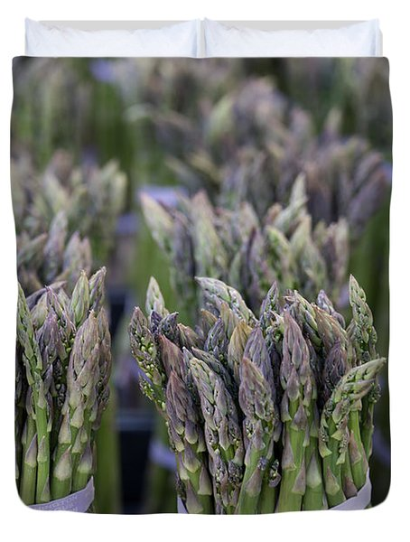 Fresh Asparagus Duvet Cover by Mike  Dawson
