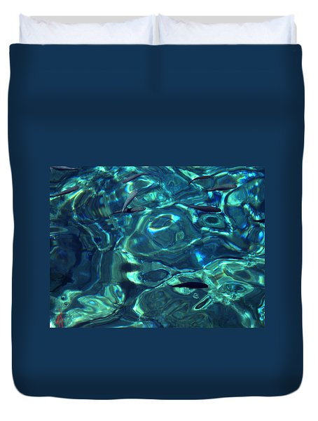 Fresh Clean Santorini Ocean  Water Duvet Cover