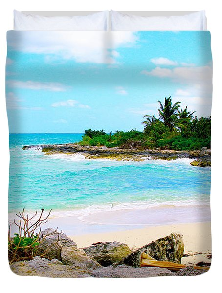 Fresh Creek Beach Duvet Cover