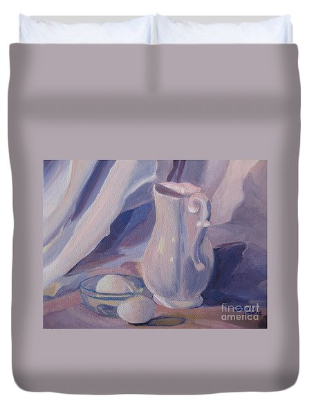 Fresh Farm Eggs Duvet Cover
