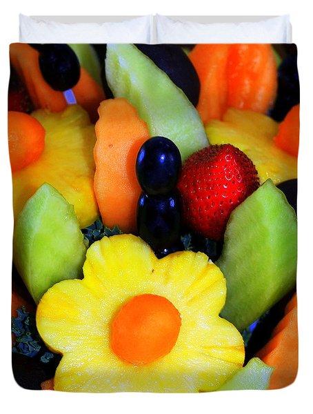 Fresh Fruit Duvet Cover by Kathleen Struckle