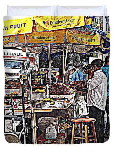 Duvet Cover featuring the photograph Fresh Fruit by Miriam Danar