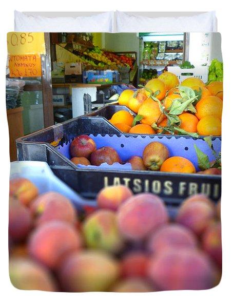 Fresh Fruit Duvet Cover by Vicki Spindler
