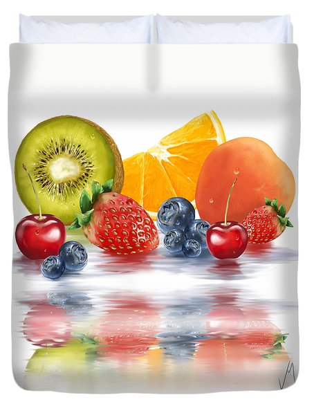 Fresh Fruits Duvet Cover by Veronica Minozzi