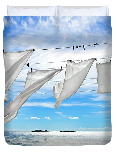 Fresh Laundry Duvet Cover by Donna Doherty