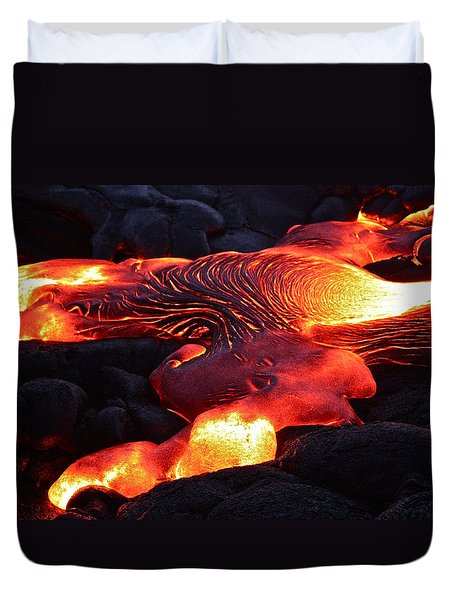 Fresh Lava Flow Duvet Cover