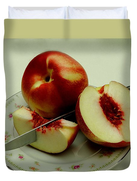Fresh Nectarines Duvet Cover