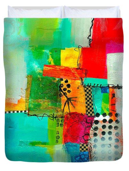 Fresh Paint #5 Duvet Cover by Jane Davies