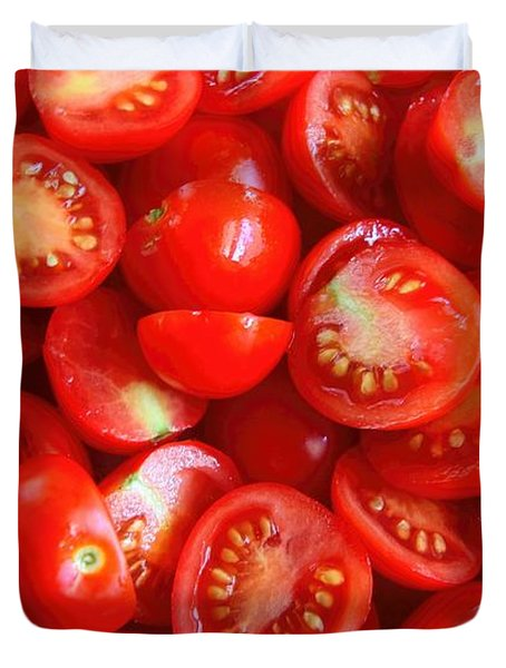 Fresh Red Tomatoes Duvet Cover by Amanda Stadther