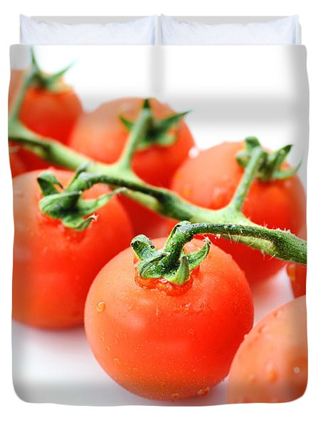 Fresh Tomatoes Duvet Cover by Chevy Fleet