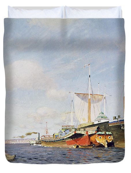 Fresh Wind On The Volga Duvet Cover by Isaak Ilyich Levitan