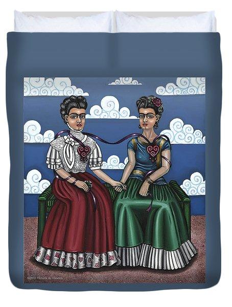 Frida Beside Myself Duvet Cover