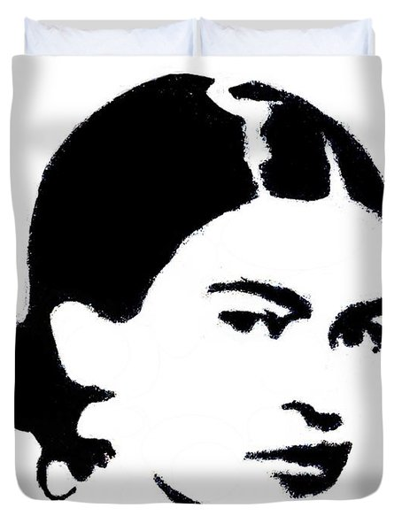 Frida Black And White Duvet Cover