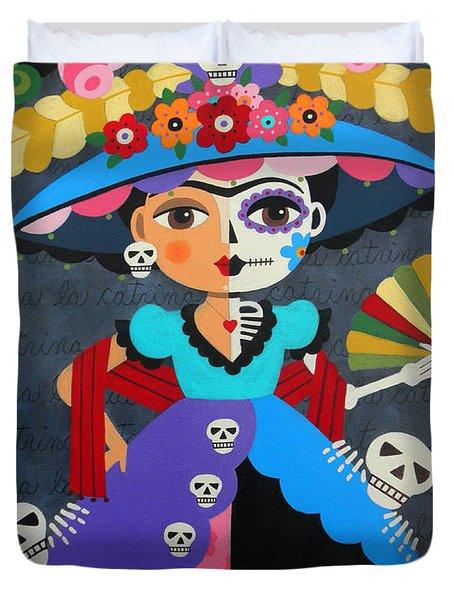 Frida Kahlo La Catrina Duvet Cover