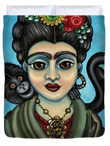 Frida's Monkey Duvet Cover