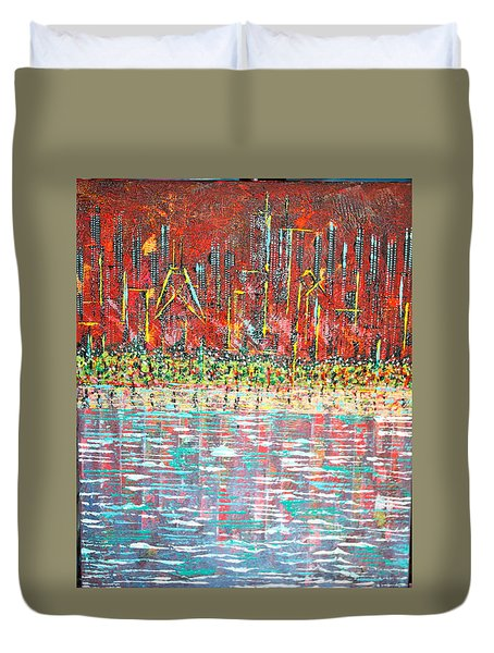 Friday At The Beach - Sold Duvet Cover