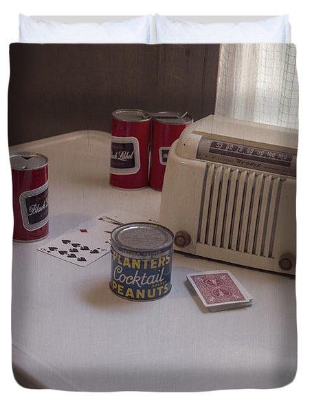 Friday Night Poker Game  Duvet Cover by Edward Fielding