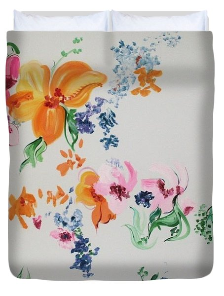 Friends Are Like Flowers Duvet Cover by PainterArtist FIN