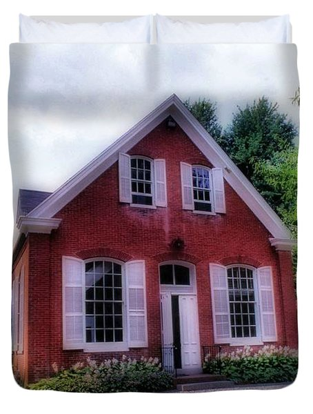 Friends Meeting House Duvet Cover by Skip Willits