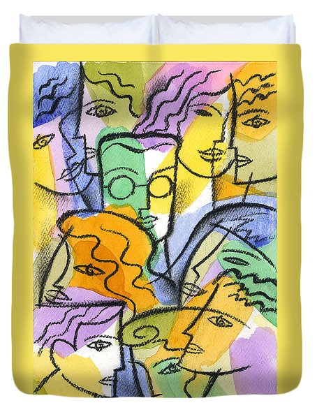 Friendship Duvet Cover by Leon Zernitsky