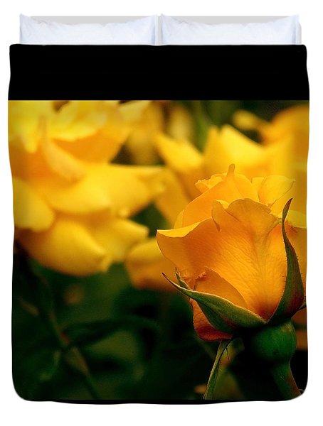 Friendship Roses Duvet Cover by Rona Black