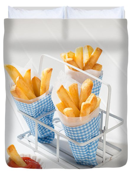 Fries Duvet Cover by Amanda Elwell