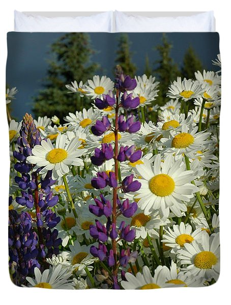 Duvet Cover featuring the photograph Frisco Flowers by Lynn Bauer