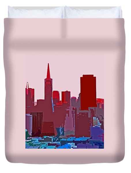 Frisco Skyline Duvet Cover