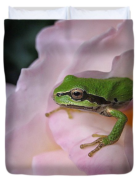 Frog And Rose Photo 3 Duvet Cover