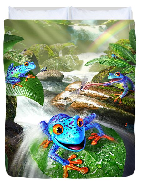 Frog Capades Duvet Cover